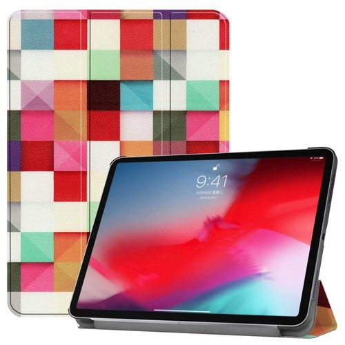 Cover2day Apple iPad Pro 11 hoes -  Tri-Fold Book Case - Blocks