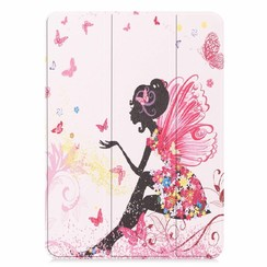 Apple iPad Pro 11 hoes - Tri-Fold Book Case - Flower Fairy