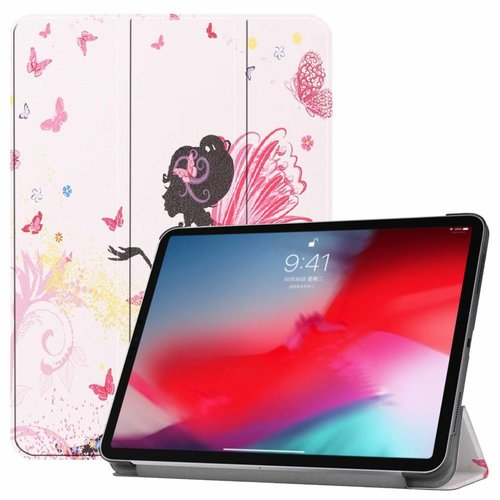 Cover2day Apple iPad Pro 11 hoes - Tri-Fold Book Case - Flower Fairy