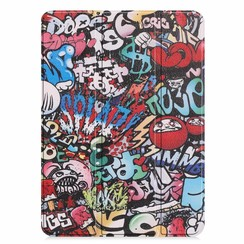 Apple iPad Pro 11 (2018) hoes - Tri-Fold Book Case - Graffiti