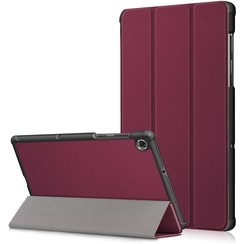 Lenovo Tab M10 Plus hoes  - Tri-Fold Book Case (TB-X606) - Donker Rood
