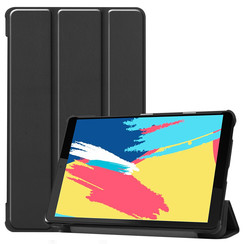 Case2go - Case for Lenovo Tab M8 FHD - Slim Tri-Fold Book Case - Lightweight Smart Cover - Black