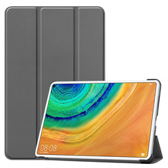 Huawei MatePad Pro 10.8 hoes - Tri-Fold Book Case - Grijs