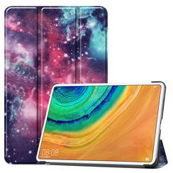 Huawei MatePad Pro 10.8 hoes - Tri-Fold Book Case - Galaxy