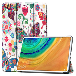 Huawei MatePad Pro 10.8 hoes - Tri-Fold Book Case - Vlinders