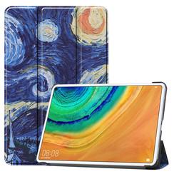 Huawei MatePad Pro 10.8 hoes - Tri-Fold Book Case - Sterrenhemel