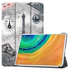 Huawei MatePad Pro 10.8 hoes - Tri-Fold Book Case - Eiffeltoren