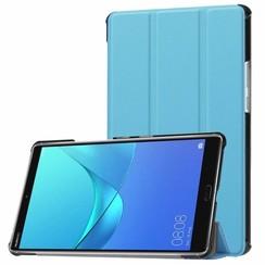 Huawei MediaPad M5 8.4 inch - Tri-fold Book Case - Licht Blauw