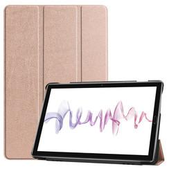 Huawei MediaPad M6 10.8 hoes - Tri-Fold Book Case - Rosé Goud