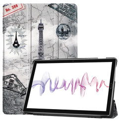 Huawei MediaPad M6 10.8 hoes - Tri-Fold Book Case - Eiffeltoren