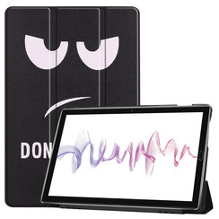 Case2go - Case for Huawei MediaPad M6 10.8 - Slim Tri-Fold Book Case - Lightweight Smart Cover - Don't Touch Me
