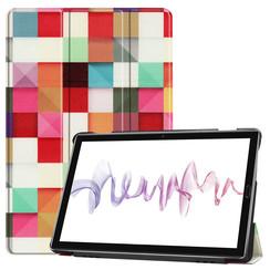 Case2go - Case for Huawei MediaPad M6 10.8 - Slim Tri-Fold Book Case - Lightweight Smart Cover - Blocks