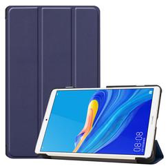 Case2go - Case for Huawei MediaPad M6 8.4 - Slim Tri-Fold Book Case - Lightweight Smart Cover - Navy Blue