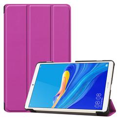 Case2go - Case for Huawei MediaPad M6 8.4 - Slim Tri-Fold Book Case - Lightweight Smart Cover - Purple