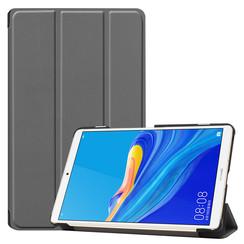Case2go - Case for Huawei MediaPad M6 8.4 - Slim Tri-Fold Book Case - Lightweight Smart Cover - Grey