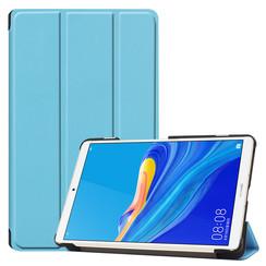 Case2go - Case for Huawei MediaPad M6 8.4 - Slim Tri-Fold Book Case - Lightweight Smart Cover - Blue