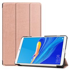 Case2go - Case for Huawei MediaPad M6 8.4 - Slim Tri-Fold Book Case - Lightweight Smart Cover - Rosé-Gold
