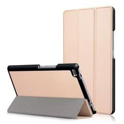 Case2go - Case for Lenovo Tab 4 8.0 - Slim Tri-Fold Book Case - Lightweight Smart Cover - Gold
