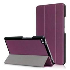 Case2go - Case for Lenovo Tab 4 8.0 - Slim Tri-Fold Book Case - Lightweight Smart Cover - Purple