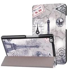 Case2go - Case for Lenovo Tab 4 8.0 - Slim Tri-Fold Book Case - Lightweight Smart Cover - Eiffeltower