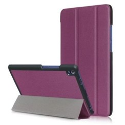 Case2go - Case for Lenovo Tab 4 8.0 Plus - Slim Tri-Fold Book Case - Lightweight Smart Cover - Purple