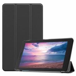 Case2go - Case for Lenovo Tab E8 (TB-8304F) - Slim Tri-Fold Book Case - Lightweight Smart Cover - Black