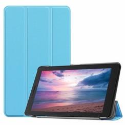 Case2go - Case for Lenovo Tab E8 (TB-8304F) - Slim Tri-Fold Book Case - Lightweight Smart Cover - Blue
