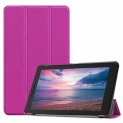 Case2go - Case for Lenovo Tab E8 (TB-8304F) - Slim Tri-Fold Book Case - Lightweight Smart Cover - Purple