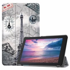 Lenovo Tab E8 hoes (TB-8304F)  - Tri-Fold Book Case - eiffeltoren