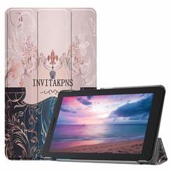 Case2go - Case for Lenovo Tab E8 (TB-8304F) - Slim Tri-Fold Book Case - Lightweight Smart Cover - Invitakpns