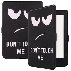 Kobo Nia hoesje - Tri-Fold Book Case met Auto Sleep Wake Functie - Don't touch me