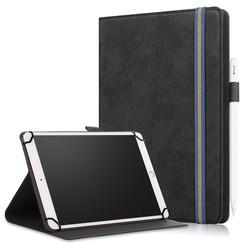 Universele 9/11 inch tablet Case - Wallet Book Case - Black