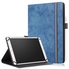 Universele 9/11 inch tablet Case - Wallet Book Case - Dark blue