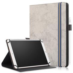 Universele 9/11 inch tablet Case - Wallet Book Case - Grey
