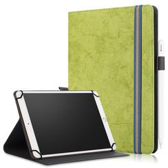 Universele 9/11 inch tablet Case - Wallet Book Case - Green