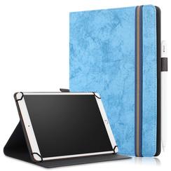Universele 9/11 inch tablet Case - Wallet Book Case - Light blue