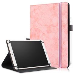 Universele 9/11 inch tablet Case - Wallet Book Case - Pink
