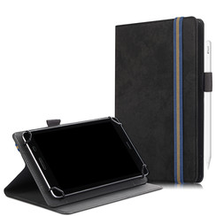 Universele 7/8 inch tablet hoes - Wallet Book Case - Zwart