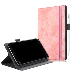 Universele 7/8 inch tablet hoes - Wallet Book Case - Roze