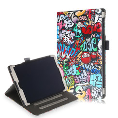 Samsung Galaxy Tab A 10.1 (2019) Case - Wallet Book Case - Graffiti