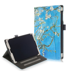 Samsung Galaxy Tab A 10.1 (2019) Case - Wallet Book Case - Whitete Bloesem