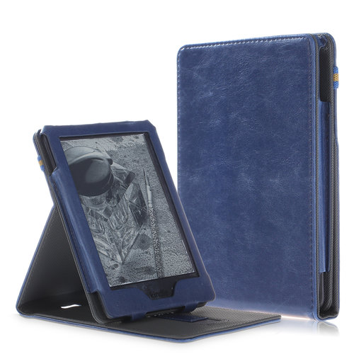 Cover2day Amazon Kindle hoes - Wallet Book Case - Blauw