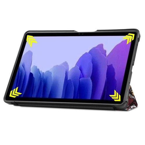 Cover2day Case for Samsung Galaxy Tab A7 (2020) - 10.4 inch - Book Case Whiteh TPU Cover - Graffiti