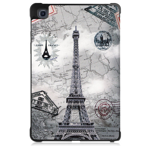 Cover2day Case for Samsung Galaxy Tab A7 (2020) - 10.4 inch - Book Case Whiteh TPU Cover - Eiffeltower