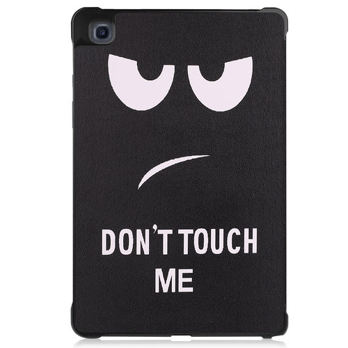 Cover2day Case for Samsung Galaxy Tab A7 (2020) - 10.4 inch - Book Case Whiteh TPU Cover - Don't Touch Me
