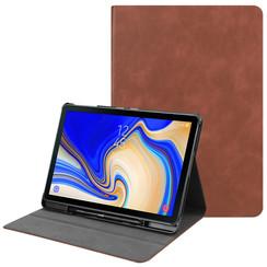 Samsung Galaxy Tab S4 10.5 Case - PU Leer Folio Book Case - Bruin
