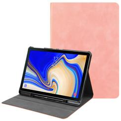 Samsung Galaxy Tab S4 10.5 hoes - PU Leer Folio Book Case - Roze