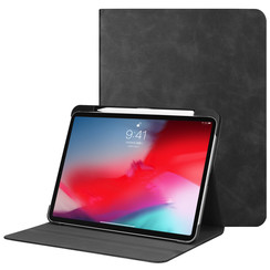 Apple iPad Pro 11 (2018) hoes - PU Leer Folio Book Case - Zwart