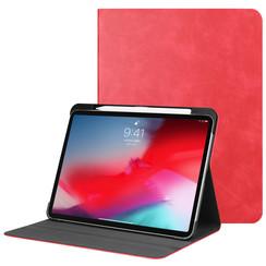 Apple iPad Pro 11 (2018) hoes - PU Leer Folio Book Case - Rood
