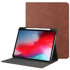 Apple iPad Pro 11 (2018) hoes - PU Leer Folio Book Case - Bruin